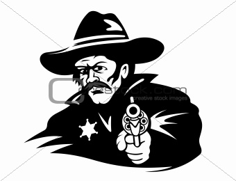 Sheriff with gun
