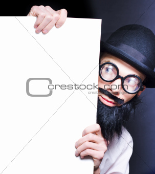 Smart Male Science Professor With Blank Board