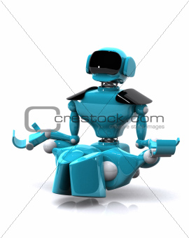 robot meditating