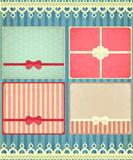 set of four retro Holiday backgrounds