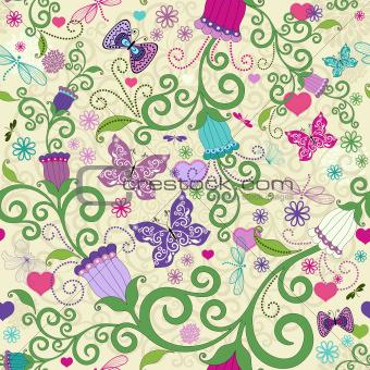 Seamless valentine vivid pattern