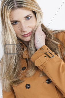 portait of woman wearing coat