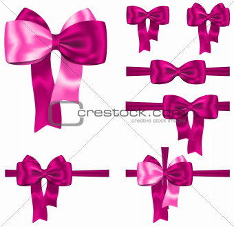 Pink ribbon set
