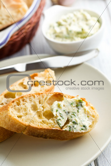 ciabatta with herb butter
