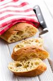 sliced ciabatta bread