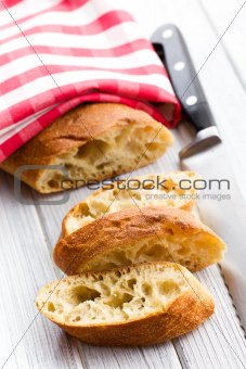 sliced ciabatta bread