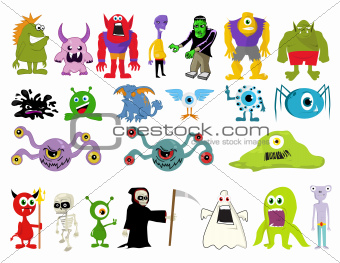 Illustration of monsters