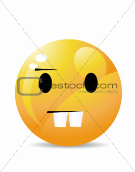 character of yellow emoticon