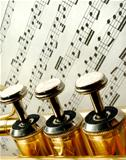 Three trumpet valves