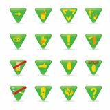Icon set Green Triangles