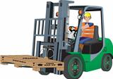 Green Forklift Truck