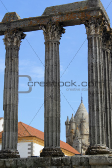 Temple of Diana in Evora