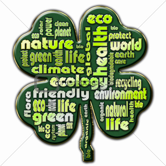Cloud of words that describe aspects of ecology