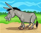 funny gray donkey cartoon illustration