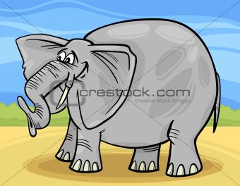 funny elephant cartoon illustration