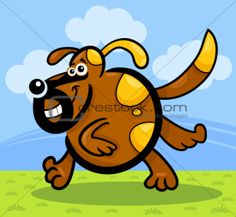 cartoon running dog or puppy