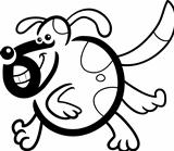 cartoon dog or puppy for coloring