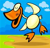 cartoon duck or duckling