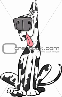 harlequin dog cartoon illustration