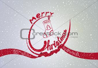 Winter Christmas card
