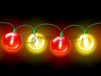 MultiColored lamp festive garland.