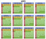 Calendar 2013. Six languages.