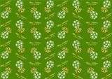 Seamless pattern with Christmas ball