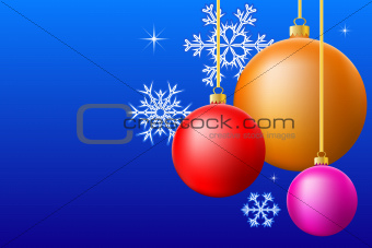 Chrismas balls background