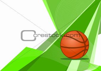 Basketball, abstract design