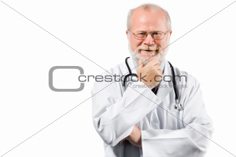 senior medical doctor on clinic