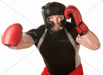 Boxer with Right Hook
