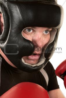 Male Boxer Close Up