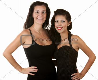 Two Hispanic Women Smiling