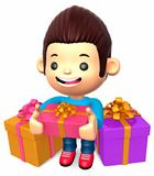 The boy in the many gifts. 3D Kids Character Design