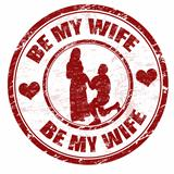 Be my wife stamp