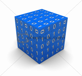 Cube with binary code