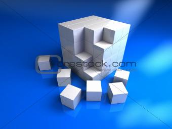 3b glossy cube
