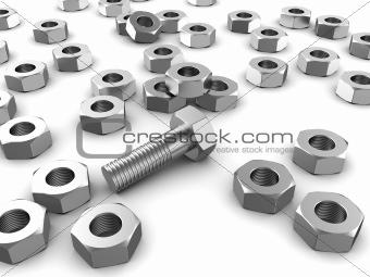 Bolt with screws
