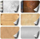 Set of Grungy Business Cards Pages Backgrounds