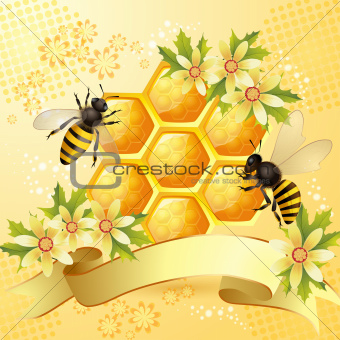 Background with bees
