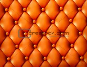 Brown button-tufted leather background
