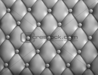 Grey button-tufted leather background