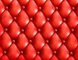 Red button-tufted leather background