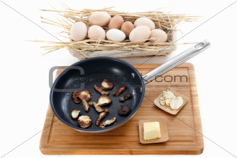ingredients for mushroom omelette