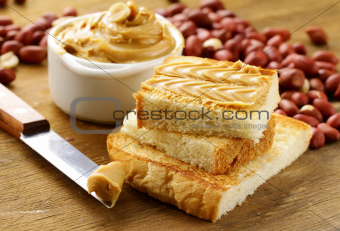 peanut butter and nuts on the table