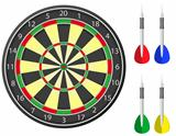 darts vector illustration