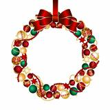 Christmas wreath decoration from Christmas Balls.