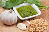 italian pesto sauce with ingredient