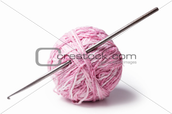 a ball of yarn with crochet