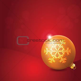 Christmas Ball with Snowflake Decoration